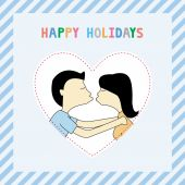 Happy holidays8 — Vector de stock
