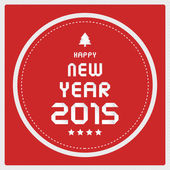 Happy new year 2015 greeting card16 — Stock Vector