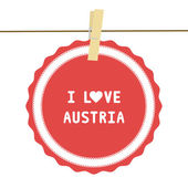 I lOVE AUSTRIA4 — Stock vektor