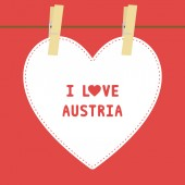 I lOVE AUSTRIA5 — Stock vektor