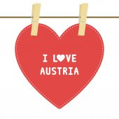 I lOVE AUSTRIA6 — Stock vektor