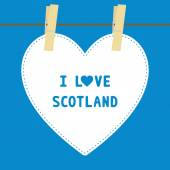I lOVE SCOTLAND5 — Stock vektor