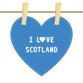 I lOVE SCOTLAND6 — Stock vektor