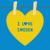 I lOVE SWEDEN5 — Stock vektor