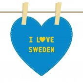 I lOVE SWEDEN6 — Stock vektor