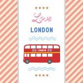 Love London card1 — Stockvector