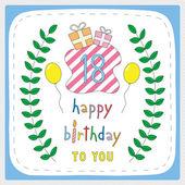 Happy birthday18 — Wektor stockowy