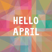 Hello April card1 — Vector de stock