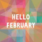 Hello February card1 — Vector de stock