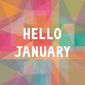Hello January card1 — Stock Vector