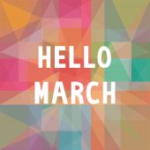 Hello March card1 — Stock Vector