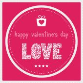 Happy valentine s day card1 — Stock Vector