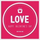 Happy valentine s day card3 — Stock Vector