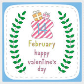 Happy valentine s day card5 — Stock Vector