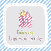 Happy valentine s day card7 — Stock Vector