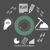 Project diagram — Stock Vector