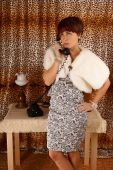 Phoning woman — Stock Photo