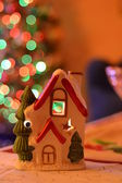 New year house and Christmas decoration — Stock Photo