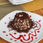 "Italian Dessert called ""panna Cotta"" :  chocolate decorative and — Stock Photo #52791909"