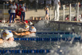 MILAN -SEPTEMBER 25: swimmers  butterfly  in Swimming Race on se — Stock fotografie