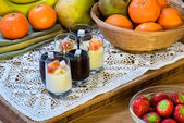 Dessert glasses  — Stock Photo