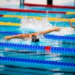 Butterfly swimming race — Stock Photo #63318875