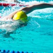 Freestyle race in swimming pool — Stock Photo #64505303