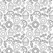 Sweets seamless pattern — Stock Vector