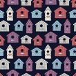 Birdhouses seamless pattern — Stock Vector #54259073