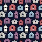 Birdhouses seamless pattern — Stock Vector #54259073