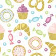 Sweets seamless pattern — Stock Vector #54259737
