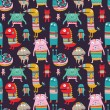 Funny monsters seamless pattern — Stock Vector #66916987