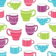 Cups seamless pattern — Stock Vector #73012709