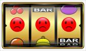 Slot machine, gambling, loser — Stockfoto