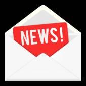 News. web icon, email communication — Stock Photo