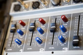 Part of an audio sound mixer console — Stock Photo