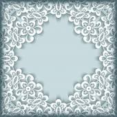 Ornamental paper lace frame — Stok Vektör