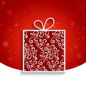 Scatola regalo decorativo — Vettoriale Stock