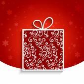 Decorative gift box — Stock Vector