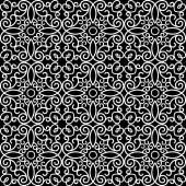 Black and white lace pattern — Stock Vector