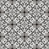 Zwart-wit swirly patroon — Stockvector