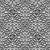 Vintage black and white pattern — Stock Vector