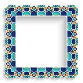 Square mosaic frame — 图库矢量图片