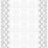 Paper frame with lace borders — Stock Vector
