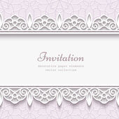 Paper lace border background — Stock Vector