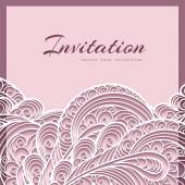 Lace greeting card — Stock Vector