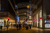 Shopping street in Stockholm by Christmas time — Stock Photo