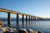 Morning sun at the bridge — Stock Photo