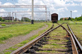 Freight Trains and Railways — Stock Photo