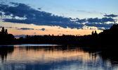 Lake after sunset — Stock Photo